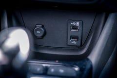 Samochodowy usb switcher zakończenie up fotografia royalty free