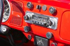 Samochodowy weterana radio Zdjęcie Royalty Free
