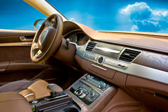 samochodowy wewnętrzny luksus zdjęcie royalty free