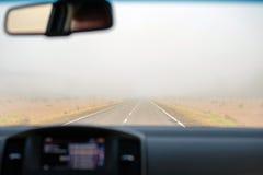 Samochodowy widok inside Zdjęcie Royalty Free