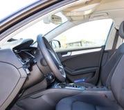 Samochodowy wnętrze - kierownica obrazy royalty free