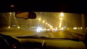 Samochodowy wnętrze w poruszającym pojazdzie zbiory