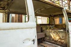 Samochodowy wnętrze z tylnymi siedzeniami Zdjęcie Stock
