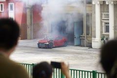Samochodowy wybuchu występ Obrazy Royalty Free