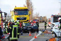 Samochodowy wypadek uliczny Fotografia Royalty Free