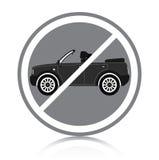 Samochodowy zakaz Obraz Stock