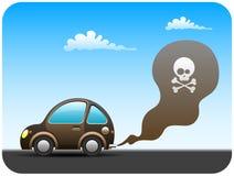 samochodowy zanieczyszczanie royalty ilustracja