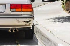 Samochodowy zderzak Swiped zdjęcia stock