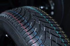 Samochodowy zimy tirenew Fotografia Stock