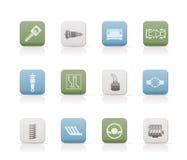 samochodowych ikon część realistyczne usługa Obrazy Stock