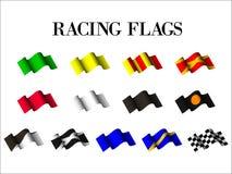 Samochodowych racings flaga Zdjęcie Royalty Free