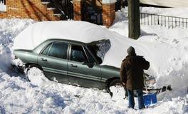 samochodu śnieg Obrazy Stock