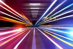 Samochodu światła ślada Fotografia Stock