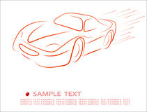 samochodu abstrakcjonistyczny kontur Zdjęcia Stock