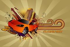 samochodu abstrakcjonistyczny wektor royalty ilustracja