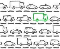 Samochodu bezszwowy wzór Obraz Stock