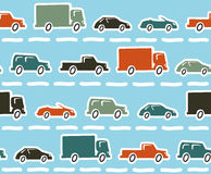 Samochodu bezszwowy wzór Obrazy Stock