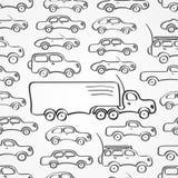 Samochodu bezszwowy wzór Fotografia Stock