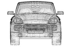Samochodu 3D model Fotografia Royalty Free