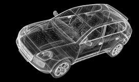 Samochodu 3D model Zdjęcia Royalty Free