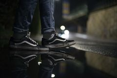 Samochodu dostawczego Skool Starzy buty obraz stock