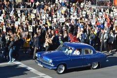 21 samochodu gaz retro Fotografia Royalty Free
