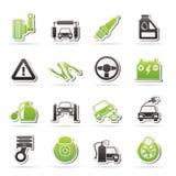 Samochodu i drogi usługa ikony ilustracji