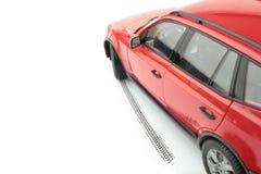 Samochodu i koła ślad Fotografia Stock