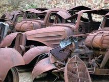 samochodu junkyard Obraz Royalty Free