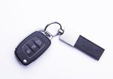 Samochodu klucz - odizolowywający na białym tle Zdjęcie Royalty Free