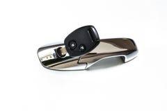 Samochodu klucz w dziurze Obraz Stock