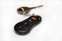 Samochodu klucz z alarmową błyskotką Zdjęcia Stock