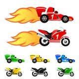 samochodu kolorów różna motocyklu rasa ilustracja wektor