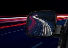 Samochodu lustro i światła Zdjęcie Royalty Free