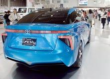 Samochodu model w Toyota sala wystawowej Fotografia Royalty Free