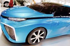 Samochodu model w Toyota sala wystawowej Obrazy Stock