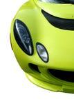 samochodu odosobniony sportów kolor żółty zdjęcia stock