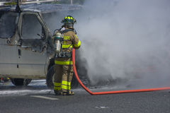 samochodu ogień Obraz Royalty Free