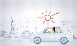 Samochodu podróżować Fotografia Stock