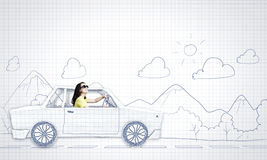 Samochodu podróżować Fotografia Royalty Free
