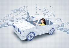 Samochodu podróżować Zdjęcia Stock