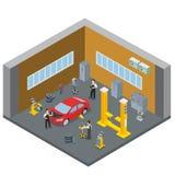 Samochodu pojazdu remontowej usługa wewnętrzny salowy pokój S ilustracji