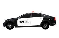 Samochodu Policyjnego Boczny widok ilustracja wektor