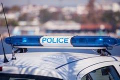 Samochodu policyjnego znak Syreny światło Obrazy Stock