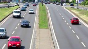 Samochodu ruchu drogowego HD folujący wideo zbiory