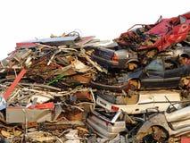 samochodu scrapyard obraz stock