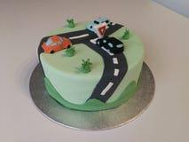 Samochodu tort obrazy royalty free