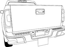 Samochodu tylnego widoku wektorowy kontur ilustracja wektor