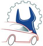 Samochodu warsztata logo ilustracji
