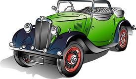 samochodu wektor zielony retro Obrazy Stock